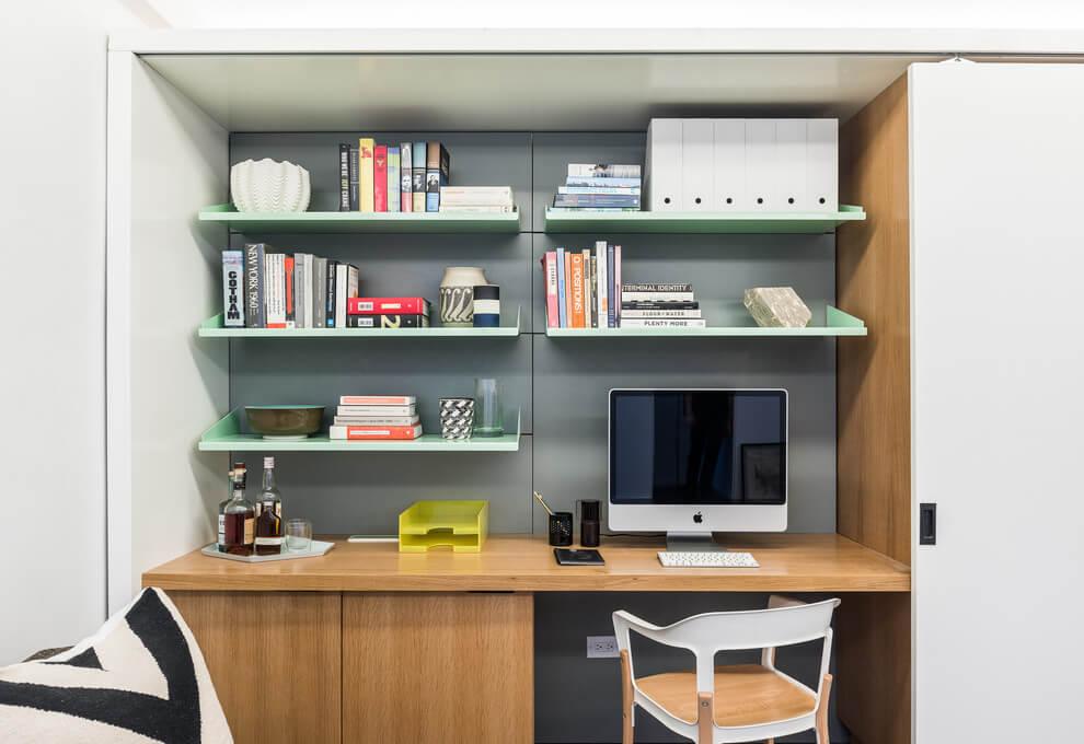 做個櫃子把工作檯收起來,裡外都能井然有序