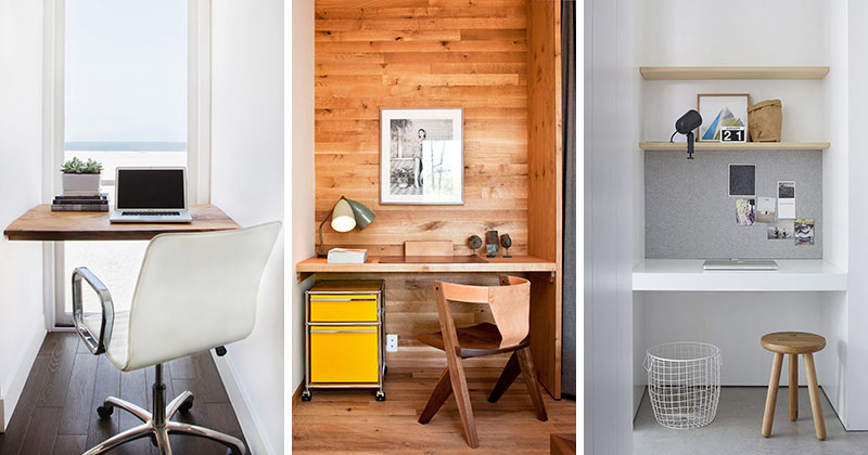 發揮想像力,畸零的小角落就能變身成為辦公室