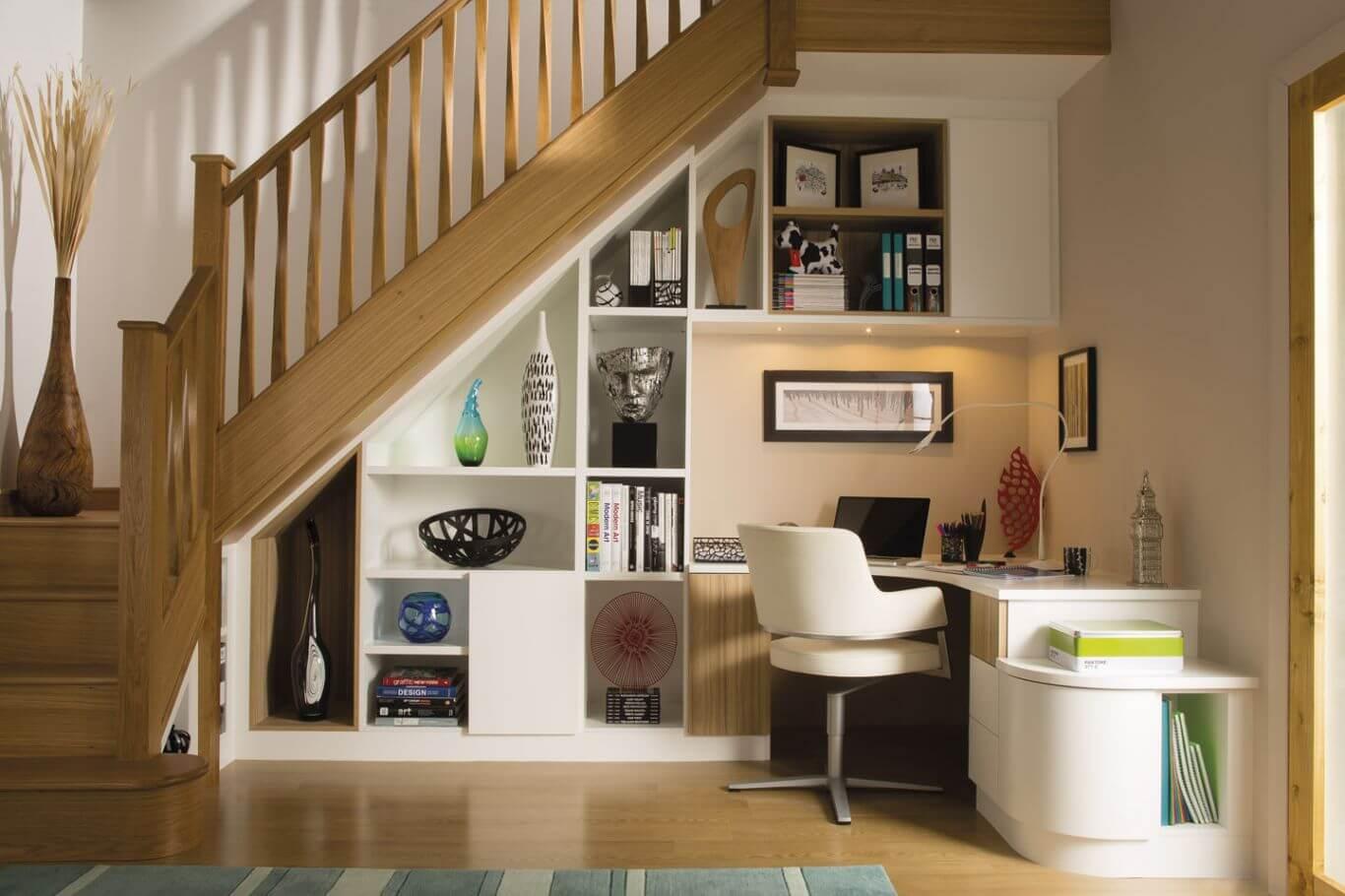 樓梯下的角落既能化解風水煞氣,又能增加空間運用
