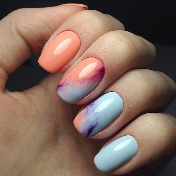 渲染多色 凝膠指甲