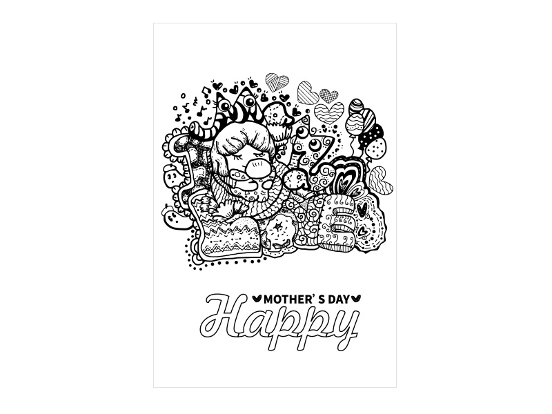 PRO360 X ibon APP X獎金獵人 創意母親節卡片設計佳作獎-作者:LinLin - mg mg
