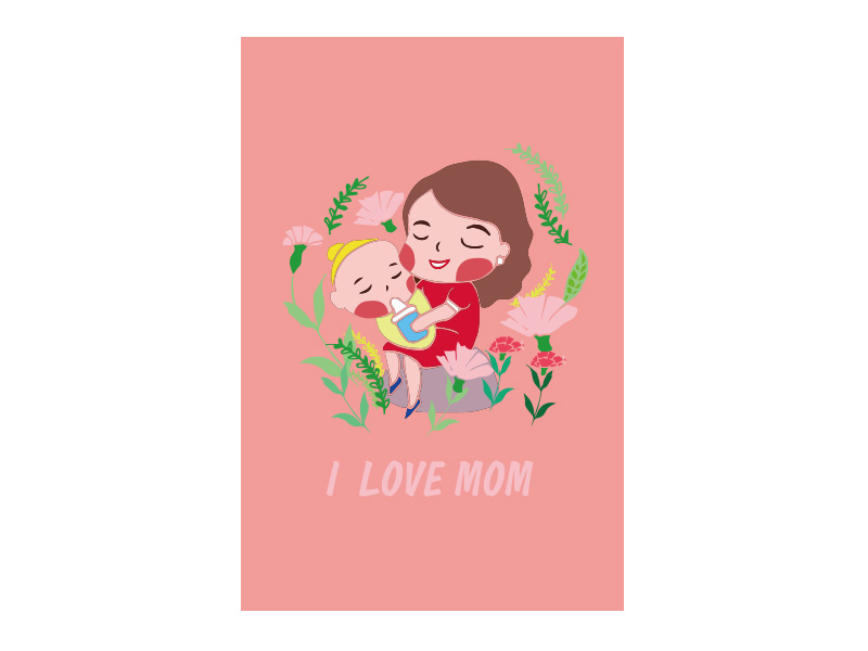 PRO360 X ibon APP X獎金獵人 創意母親節卡片設計評審團獎-作者:陳佳微